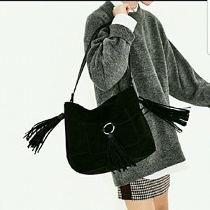 Zara leather bucket bag (8613)